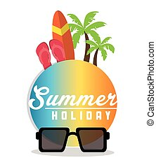 Summer holiday and vacations design
