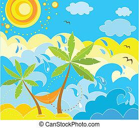 Summer holiday background