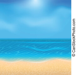 Summer holiday background with sunlight