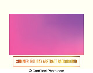 Summer holiday banner, abstract background Color transition.