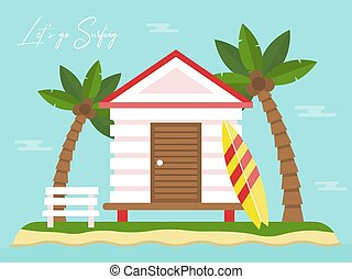 Summer Holiday, Bungalow on Island with sea view