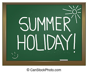 Summer holiday concept. - Illustration depicting a green ...