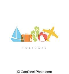 Summer holiday concept illustration