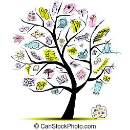 Summer holiday, concept tree for your design