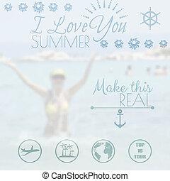 Summer holiday creative poster