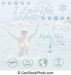 Summer holiday creative poster