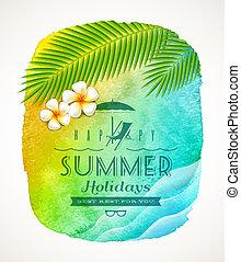 Summer holiday greeting