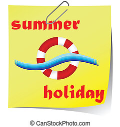 summer holiday icon vector illustration
