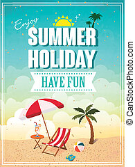 summer holiday poster - lovely summer holiday have fun ...
