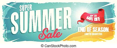 Summer Holiday Sale Wide Banner