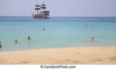 Summer holiday scenics at the beach