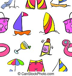 Summer holiday style pattern