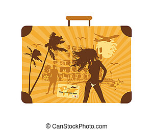 Summer holiday, suitcase