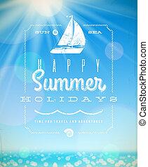 Summer holiday vector illustration