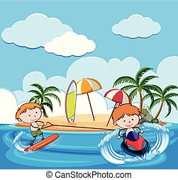 Summer Holiday with Water Activities