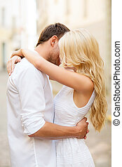 couple in the city - summer holidays and dating concept - ...