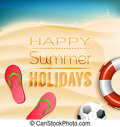 Summer holidays background - Happy summer holidays -...