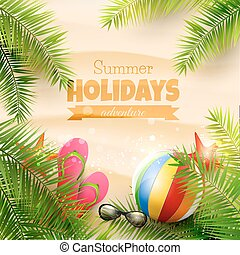 Summer holidays background - Summer background with with ...