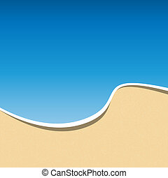 Summer Holidays Card Template. Sea Beach Background. Vector