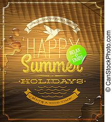 Summer holidays emblem