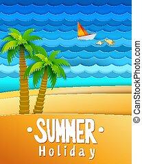 Summer holidays landscape