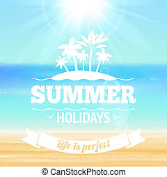 Summer holidays poster