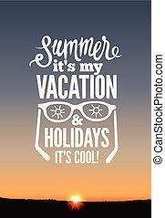 Summer holidays poster.