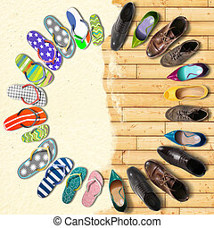 Summer holidays, shoes