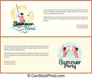 Summer Holidays Vacation, Activities of People Web