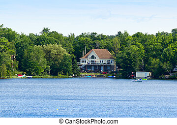 Summer home on a lake