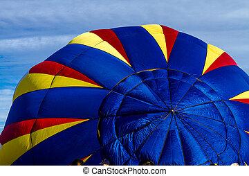 Summer Hot Air Balloon Festival - Brightly colored hot air...