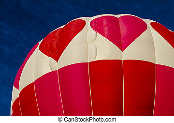 Summer Hot Air Balloon Festival - Brightly colored pink and...