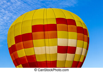 Summer Hot Air Balloon Festival - Brightly colored yellow...