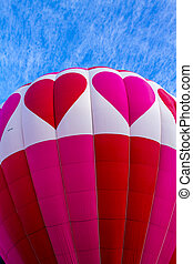 Summer Hot Air Balloon Festival - Top of brightly colored...