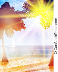 Summer hot holidays poster template.