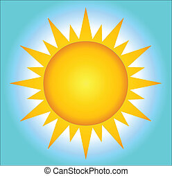 Hot Sun With Background