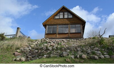 summer house hill sky