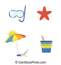 summer icon art vector illustration on a white background