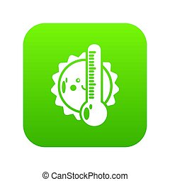 Summer icon green isolated on white background