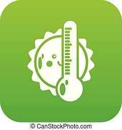Summer icon green vector
