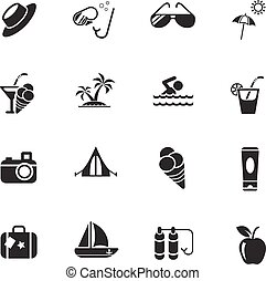 summer icon set - summer web icons for user interface design