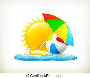 Summer icon, vector