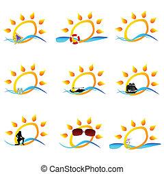 summer icon vector illustration
