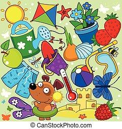 Summer illustration for children.