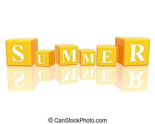 summer in 3d cubes