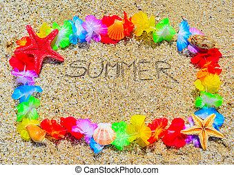 summer in a hawaiian frame