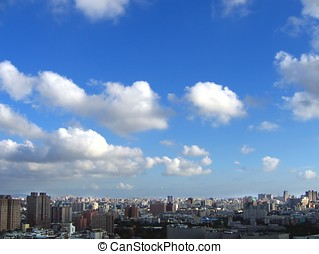 Summer in the City - -- an aerial view Kaohsiung City in...