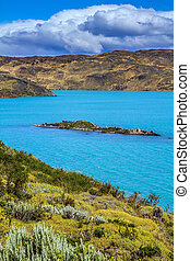 Rio Paine - Summer in the south of Chile. Rio Paine - the...