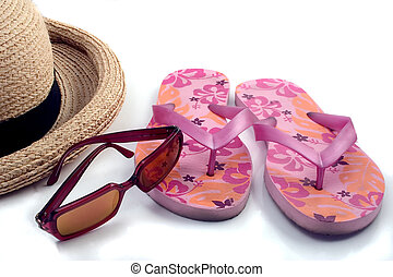 Summer Items - Just a few essentials for a day at the beach