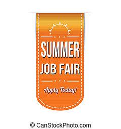 Summer job fair banner design over a white background,...